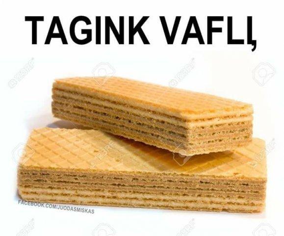 #Tagink Vaflį
