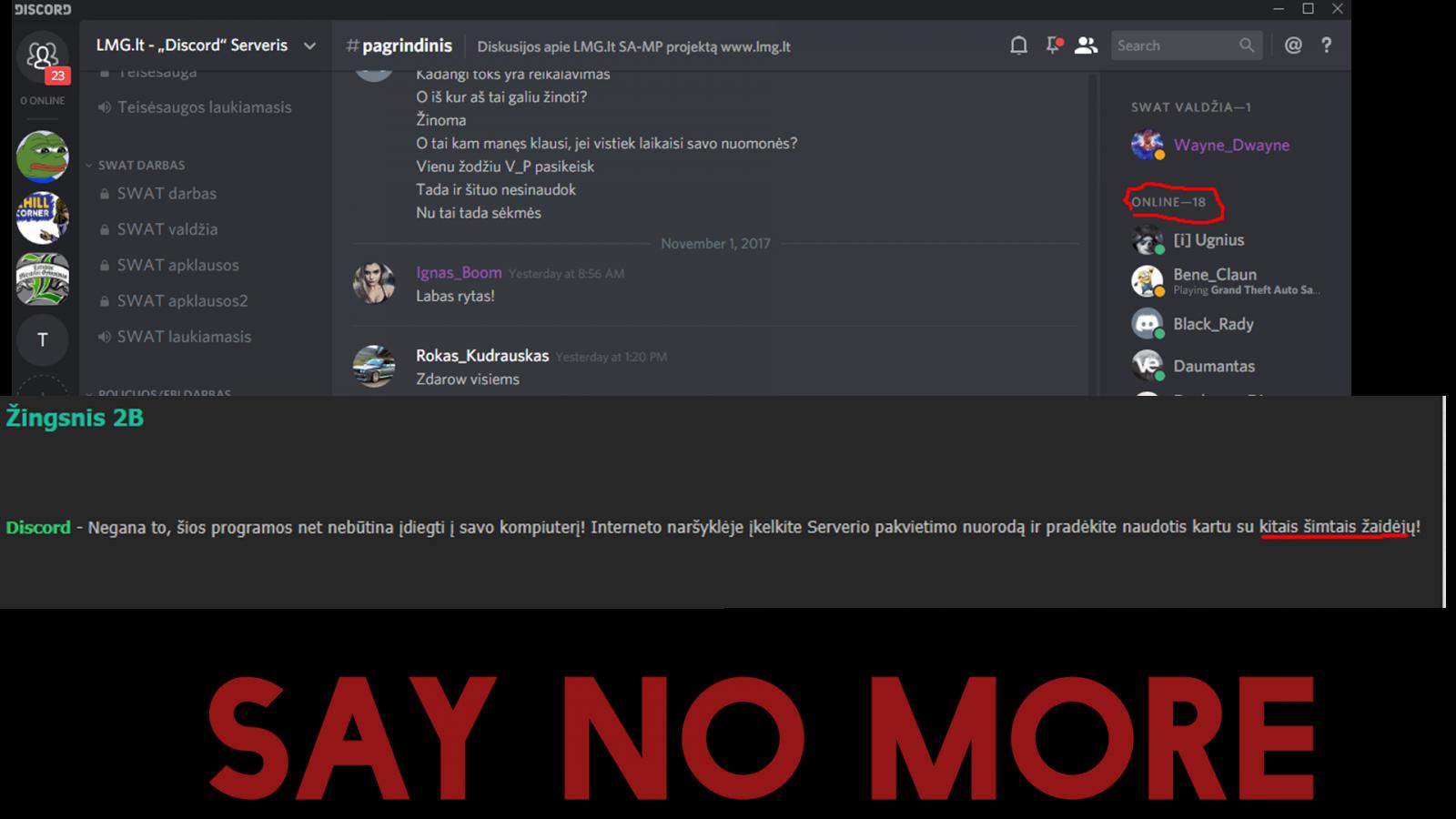 Say no more.
